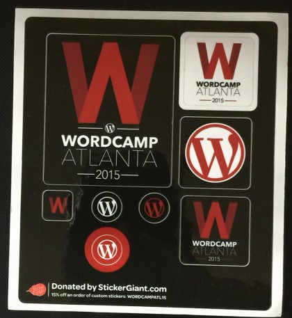 WordCamp Stickers 2015