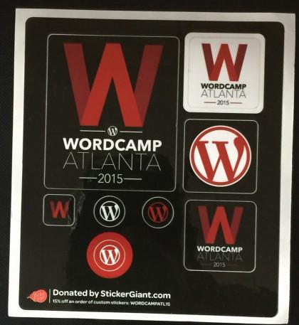 WordCamp Stickers 2015
